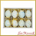 Zestaw niebieskich jajek z zawieszką 8cm/8szt.