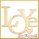 Love - ażurowy napis ze sklejki ozdobnej 5,5cm