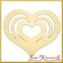 Serce - ażurowa ozdoba ze sklejki 10,5cm