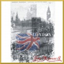 Papier ryżowy LONDYN FLAGA BIG BEN - 233