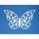 Zawieszka papierowa motyl 6,5x4cm ZESTAW 10sztuk