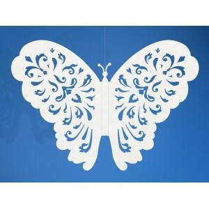 Zawieszka papierowa motyl 14 cm MO