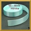 Tasiemka satynowa 25mm kolor 95 Woda morska
