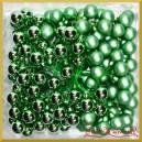 Bombki szklane na druciku zielone matowo-błyszczące  2cm/144szt. HURT