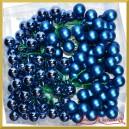 Bombki szklane na druciku zimny niebieskie matowo-błyszczące  2cm/144szt. HURT