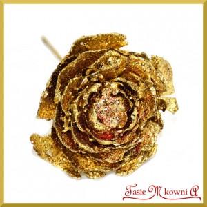 Róża cedrowa na piku złota 10cm/10szt.