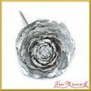 Róża cedrowa na piku srebrna 10cm/10szt.