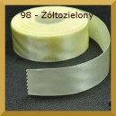 Tasiemka satynowa 25mm kolor 98 Żółtozielona