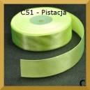 Tasiemka satynowa 25mm kolor C51 Pistacja