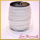 Perełki na sznurku białe perłowe 3mm/ 1mb
