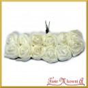 BIAŁE różyczki z pianki 2,5cm 12szt. (AL1023)