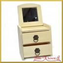 Toaletka mini dwoma szufladkami + lusterko 20x11,5x12