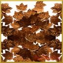 Cekiny liście klonu brązowe 2cm/40szt.