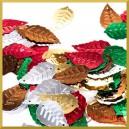 Cekiny liście  DUŻE mix kolorów 2,5cm/50szt.