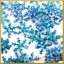 Cekiny śnieżynki niebieskie laserowe 1,3cm/100szt.