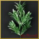 Gałązka listków ozdobnych (A599) 32cm  bielona