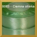 Tasiemka satynowa 6mm kolor 8083 ciemna oliwka