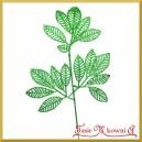 Liść ozdobny brokatowy ZIELONY 40cm