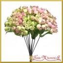 Dzika róża - gałązka ozdobna różowo-kremowa 10szt.23cm  BUKIET