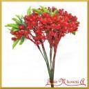 Gałązka ozdobna czerwono-zielona 1szt/32cm