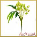Gałązka ozdobna kremowo-zielona 1szt/32cm