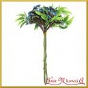 Gałązka ozdobna niebieska 1szt/25cm    BUKIET