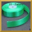 Tasiemka satynowa 25mm kolor 10 Zielona