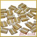 Złote prezenciki - mini ozdóbki ze sklejki 2,5cm/25szt.