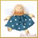 Aniołki w sukienkach niebieskiej i bezowej zestaw zawieszek 2szt/9cm