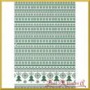 Papier ryżowy A4 R1487- wzór sweterkowy zielony