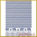 Papier ryżowy A4 R1487- wzór sweterkowy niebieski
