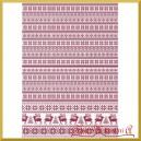 Papier ryżowy A4 R1489- wzór sweterkowy czerwony