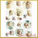 Papier ryżowy A4 R1492- pejzaż zimowy z aniołkami