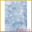 Papier ryżowy A4 R1501 tło niebieskie śnieżynki