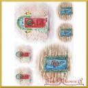 Papier ryżowy A4 R1507 drzwi świąteczne z ozdobami