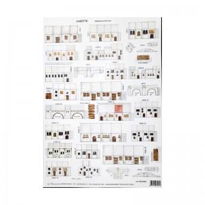Makiety z papieru DOMKI białe- 2,5-3cm WZÓR 9