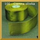 Tasiemka satynowa 25mm kolor 100 Ciemna oliwka