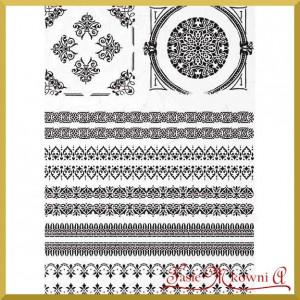Papier ryżowy A4 R1514 ornamenty czarne