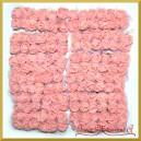 ŁOSOSIOWE różyczki z pianki z TIULEM 2cm 144szt. ZESTAW