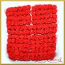 CZERWONE różyczki z pianki z TIULEM 2cm 144szt. ZESTAW