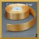 Tasiemka satynowa 25mm kolor C105 Jasno brązowa