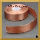 Tasiemka satynowa 25mm kolor 68 Brązowa