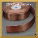 Tasiemka satynowa 25mm kolor 25 Czekoladowa