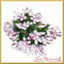 Bukiecik OZDOBNY pręciki brudny róż 12 DRUCIKÓW