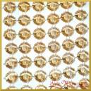 Taśma diamentowa złote margaretki 10,5cm/0,5mb