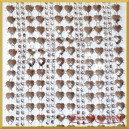Taśma diamentowa srebrne serca i diamenty 11cm/0,5mb