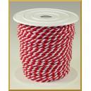 Sznurek oplatany 3,2mm biało-czerwony ROLKA 25MB
