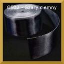 Tasiemka satynowa 25mm kolor C502 Szara ciemna