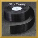 Tasiemka satynowa 25mm kolor 31 Czarna