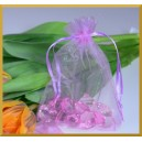 Woreczki z organzy jasny fiolet 10*13cm 10szt.